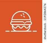 retro  fast food burger badge... | Shutterstock .eps vector #1192864276
