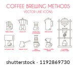 coffee brewing methods  vector... | Shutterstock .eps vector #1192869730