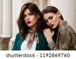 outdoor close up fashion... | Shutterstock . vector #1192869760