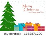 beautiful card with christmas...   Shutterstock .eps vector #1192871200