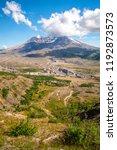 Mount St. Helens in Washington State-USA