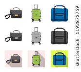 vector design of suitcase and... | Shutterstock .eps vector #1192873759