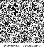 white and black grunge celtic...   Shutterstock . vector #1192873840