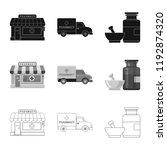 vector design of pharmacy and... | Shutterstock .eps vector #1192874320