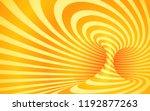 orange color striped swirl  ...   Shutterstock . vector #1192877263