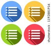 simple list menu icon. set of...