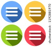 hamburger menu. web icon. set...