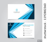 professional card name design... | Shutterstock .eps vector #1192882360