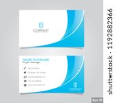 professional card name design... | Shutterstock .eps vector #1192882366