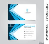 professional card name design... | Shutterstock .eps vector #1192882369