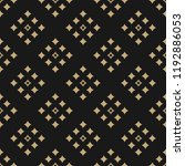 golden abstract geometric... | Shutterstock .eps vector #1192886053