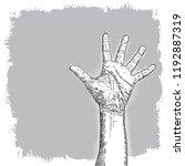 hand gesture sketch. man wrist...   Shutterstock .eps vector #1192887319