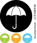 umbrella   vector icon isolated | Shutterstock .eps vector #119288938