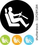 man driving at steering wheel   ... | Shutterstock .eps vector #119289184