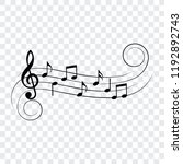music notes  musical design... | Shutterstock .eps vector #1192892743