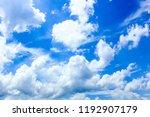 blue sky with cloud closeup | Shutterstock . vector #1192907179