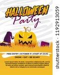 halloween flyer. party... | Shutterstock .eps vector #1192913059