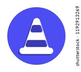 traffic cone icon in badge...