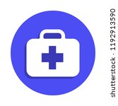 first aid kit icon in badge...
