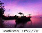 Fishing Boat In The Sea In...