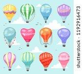 balloon vector cartoon air...   Shutterstock .eps vector #1192916473