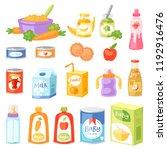 baby food vector child healthy... | Shutterstock .eps vector #1192916476