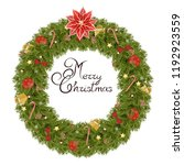 christmas wreath made of... | Shutterstock .eps vector #1192923559