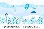 hello winter leaves background...   Shutterstock .eps vector #1192925113