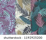 set of three seamless floral... | Shutterstock .eps vector #1192925200