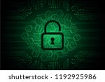 safety concept  closed padlock... | Shutterstock .eps vector #1192925986