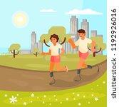 vector illustration of disabled ... | Shutterstock .eps vector #1192926016