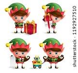 christmas elves vector... | Shutterstock .eps vector #1192927510