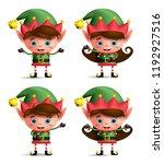 christmas elves vector... | Shutterstock .eps vector #1192927516
