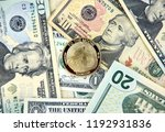 dogecoin crypto currency coin...   Shutterstock . vector #1192931836