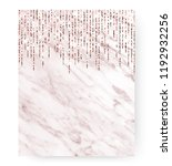 marble holiday invitation card... | Shutterstock .eps vector #1192932256