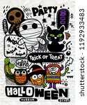 halloween party invitation card ... | Shutterstock .eps vector #1192933483