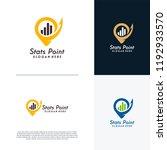 finance point logo designs... | Shutterstock .eps vector #1192933570
