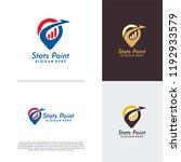 finance point logo designs... | Shutterstock .eps vector #1192933579