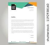 letterhead template design  | Shutterstock .eps vector #1192938160