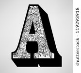 letter a   ornamental initial | Shutterstock .eps vector #119293918