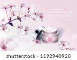 cherry blossom skin care... | Shutterstock .eps vector #1192940920