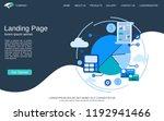 website landing page vector... | Shutterstock .eps vector #1192941466