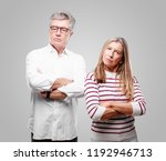 senior cool husband and wife... | Shutterstock . vector #1192946713