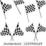 race flag various designs ... | Shutterstock .eps vector #1192956169