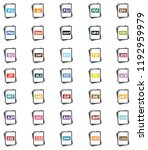concept idea of file type icons. | Shutterstock .eps vector #1192959979