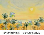 Watercolor Paintings Seascape...