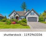 big custom made luxury house... | Shutterstock . vector #1192963336