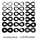 infinity vector set on white... | Shutterstock .eps vector #1192963369