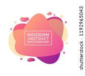 modern liquid fluid abstract... | Shutterstock .eps vector #1192965043