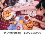 close up of woman enjoying... | Shutterstock . vector #1192966909